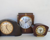 art deco clocks - lot of three - instant collection - repair or parts