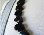 Deep Brown Stone Necklace