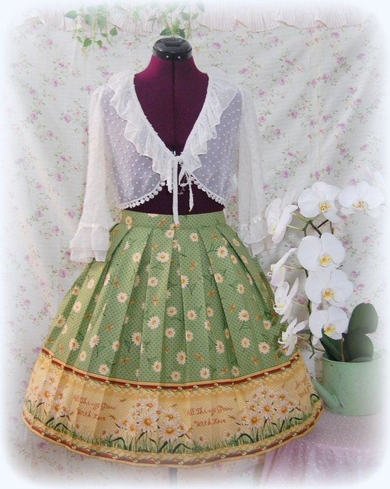 Sweet Classic Country Lolita Skirt, All Things Grow with Love