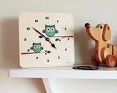 LulaOwl wall clock by Lulabird
