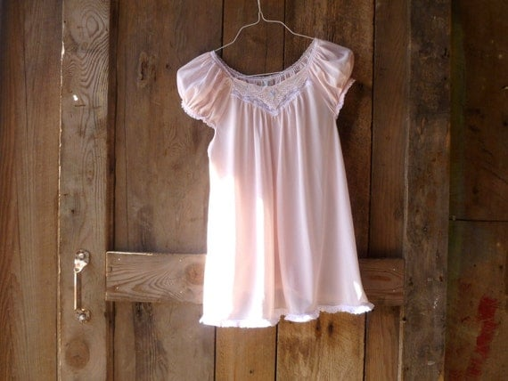 upcycled clothing // womens upcycled peasant top // pale pink with pretty lace and embroidery