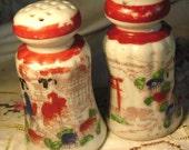 Vintage Geisha Handpainted Salt and Pepper Shakers handpainted in Japan