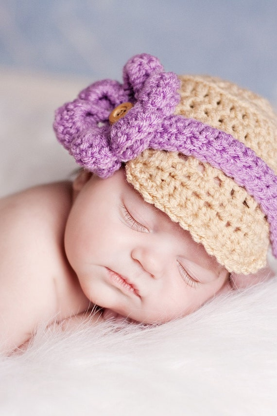 Versatile Infant Newsboy Hat- You pick color and 5 accessories