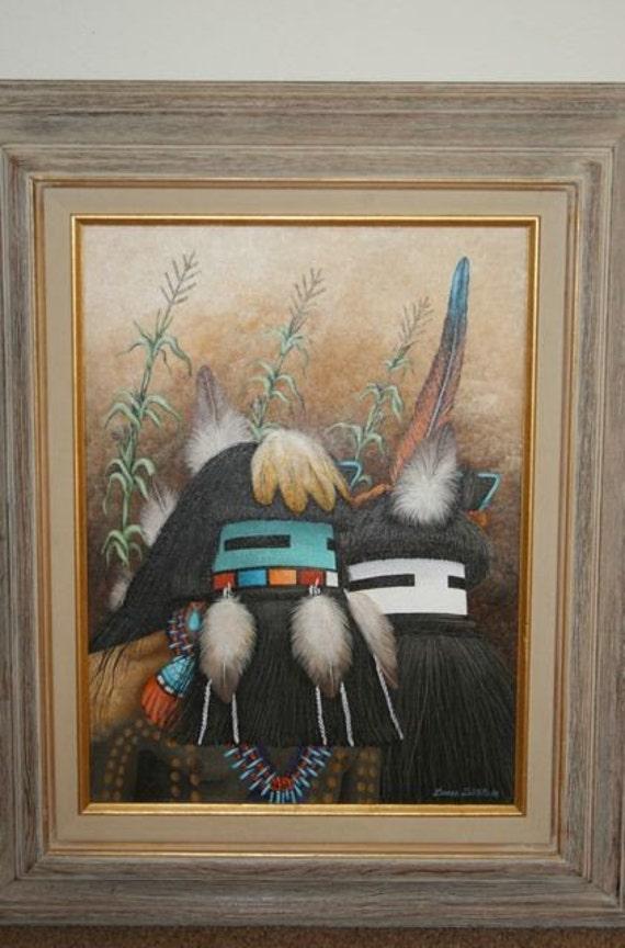 Kachina Painting By Duane Dishta Zuni Master Artist