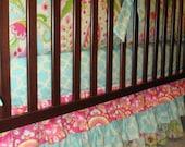 Custom Layered Crib bedskirt