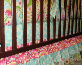 Custom Layered Crib bedskirt