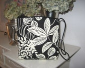 Black and white delightful floral design