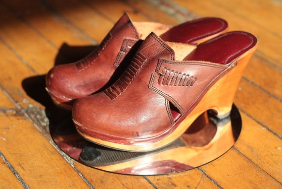 Wooden Heel Hot Clogs