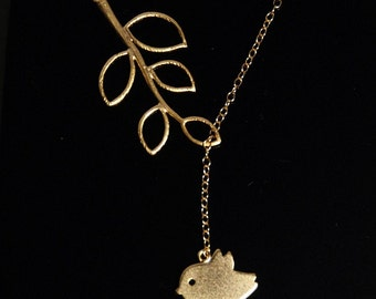 Lovely Chic tree branches neclace with 14K gold filled chain
