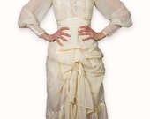 Vintage Prarie Upcycled Ivory Wedding Dress