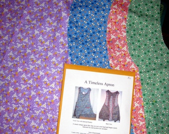 A Timeless Apron - Simple Farmhouse 1930's style    Paper Pattern  Free Shipping