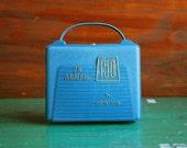 Vintage Opta-Vue Slide File Case, Unused Plastic Carrying Case