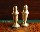 Antique Sterling Silver Salt and Pepper Mixed Set, AMC and Empire
