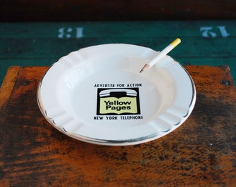 New York Telephone Yellow Pages Ashtray