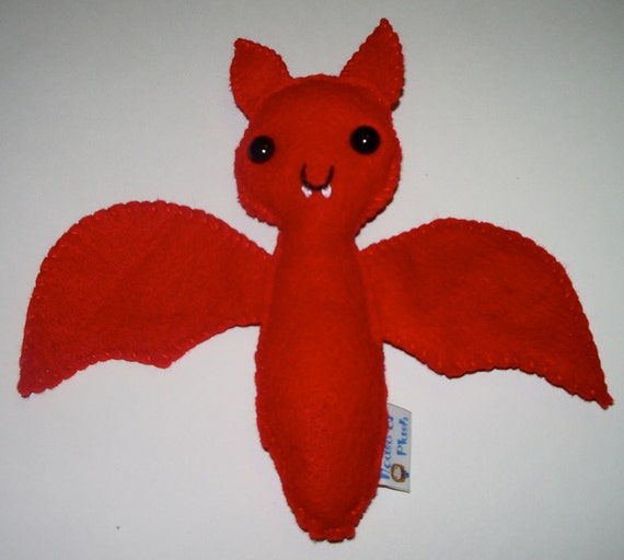 Red Vampire Bat Plushie