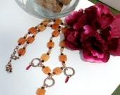 Adventurine & Carnelian Necklace