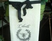 French (Bee/Wreath) L'abeille Tea Towel -