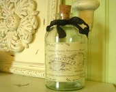 French Label - Apothecary - Gouffe - Recycled Glass Bottle