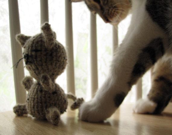 Crocheted Sleepy Kitty Amigurumi Toy