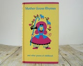 Peter Pauper Press Mother Goose Rhymes book illustrated by Sonia Roetter yellow pink and blue Little Bo Peep