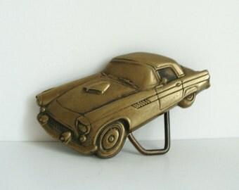 Vintage Brass Hot Rod Belt Buckle - Gifts For Him - Men's Belt Buckle