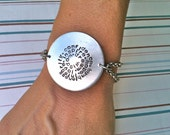 Big.Bold.Beautiful...Make A Statement Circle...Hand Stamped Bracelet