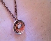 NEW-RICHLY Stacked...Mixed Metal Personalize Hand Stamped Phrase Necklace
