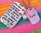 NEW-I'll LOVE you Forever, I'll Like You For Always. As Long As I'm Living, My Baby You'll Be....Hand Stamped Necklace