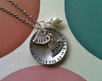 YOU Stole My HEART.. Handstamped Necklace