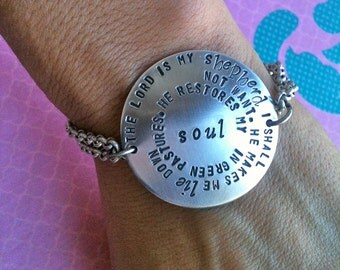 Big.Bold.Stunning...Original Rainbow Stamp Style Personalize Bracelet