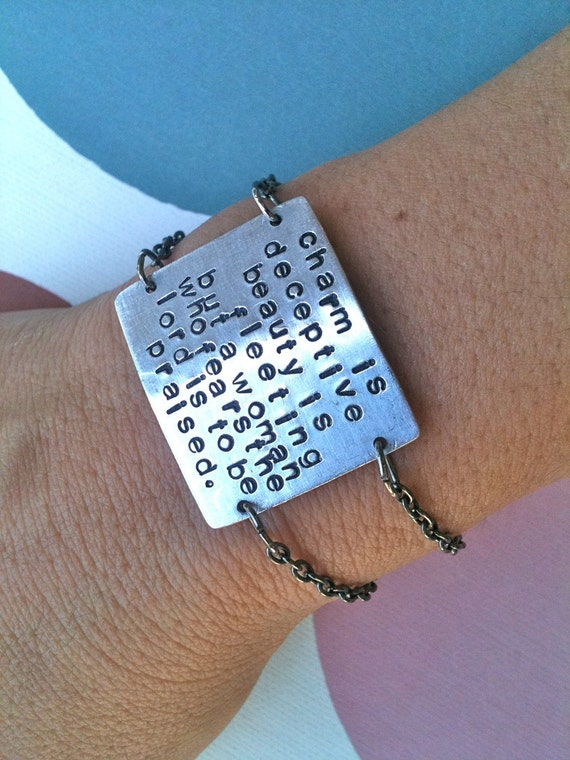 Make A Statement... Handstamped Bracelet