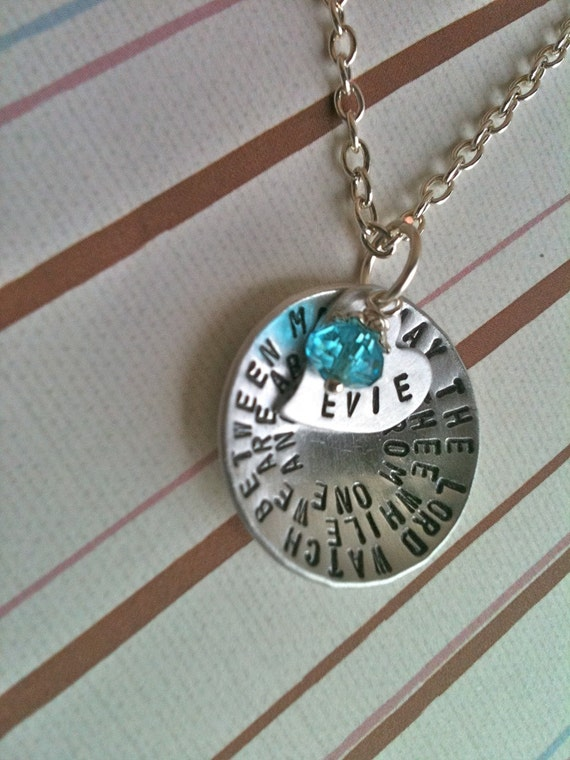 Custom Listing For Debra...Wrap A Phrase.....Personalized Hand Stamped Necklace