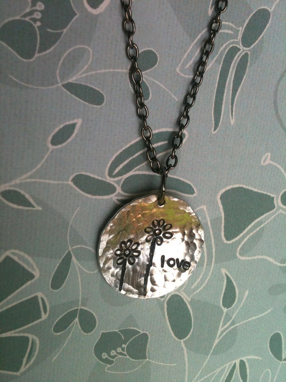 Cusotm Listing For Amanda...WHIMSY....Hand Stamped Necklace