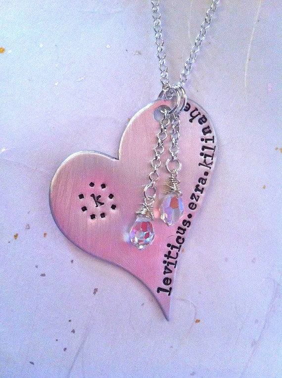 Custom Listing For Alli...NEW-Crystal Dangled Heart of Love...Original Design By DC&T