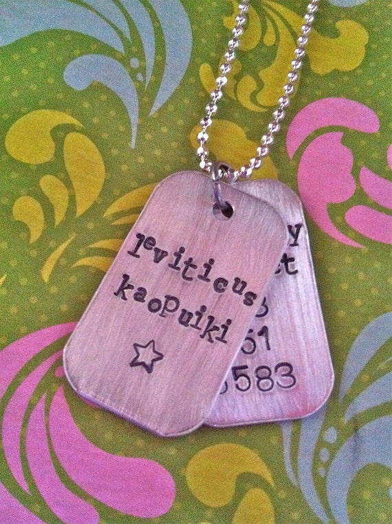NEW-Children's Cool Personalized Tag AND Identification Tag..Hand Stamped Necklace