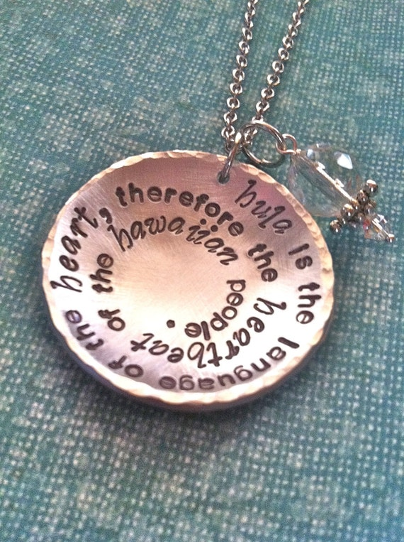 Custom Listing For Andi...NEW-For the LOVE of HULA...Hand Stamped Necklace