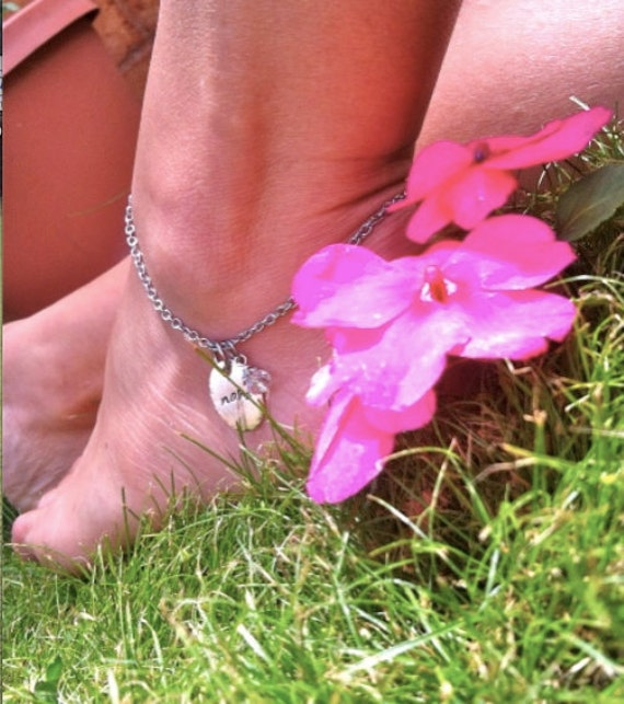 NEW-Hand Stamped ANKLETS  by DC&T
