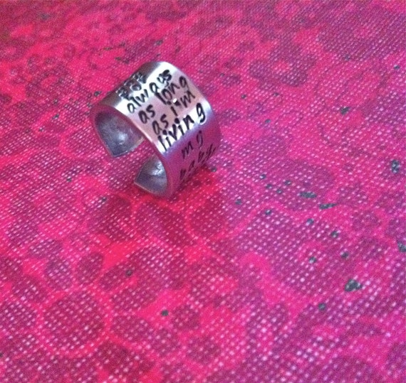 NEW-Sideways and FunkY...dc&t Finger Art Collection.....Hand Stamped Ring