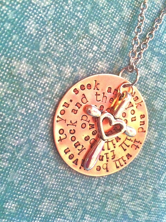 New-The CROSS...Hand Stamped Copper Necklace