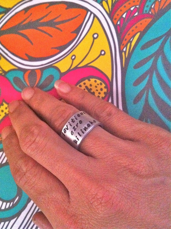 NEW-Brag Ring...Hand Stamped Rings by dc&t