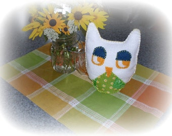 Mr.Lazy Owl Small Pillow