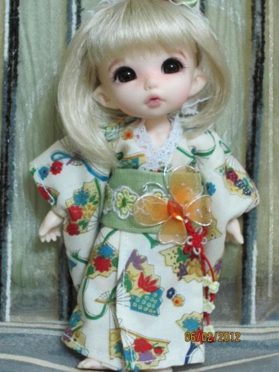Beauty Flower Kimono for Pukifee ,lati yellow