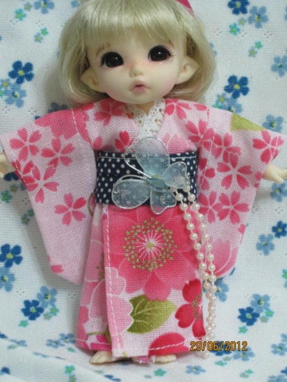 Pink Flower Kimono for Pukifee ,lati yellow