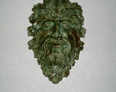 Ceramic Greenman of the Forest Plaque 2