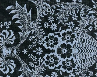 Oilcloth By The Yard Toile White on Black