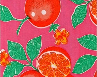 Pink Oranges Oilcloth