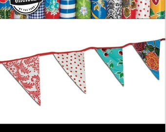 DIY Oilcloth Pennant Kit