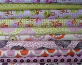 Pink and Green Fabric Bundle - fabric destash - 5.5 yards total - free shipping
