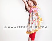 Spring knot dress with ruffle edge 3m 6m 12m 18m 2 3 4 5 6 8 10 12