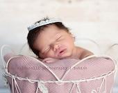 Newborn vintage inspired silver crown. Photography prop for baby, infant, child. SKU: Little Sunshine